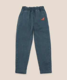 Bird Embroidery Woven pants #01095