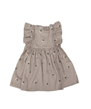 Uniqua Dress - Taupe With Cherry Badge