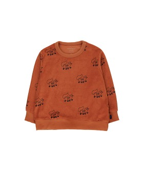 """Foxes"" Sweatshirt - Sienna/Navy"