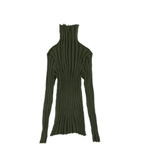 MS095 Rib Turtle Neck - Sage  - 2차