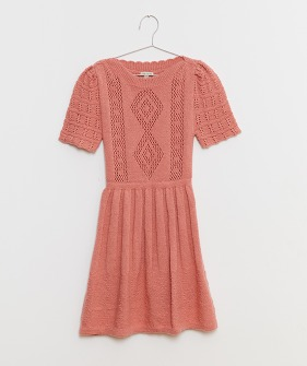 Pink Knitted Dress (Kids & Mom) - Pink