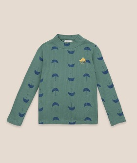 Umbrella All Over Turtle Neck T-shirt #01020