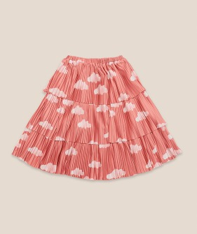 Clouds All Over Woven Skirt #01135 ★ONLY 6-7Y★