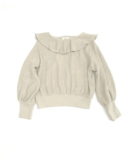 Volant Terry Sweater #20232 - Frost
