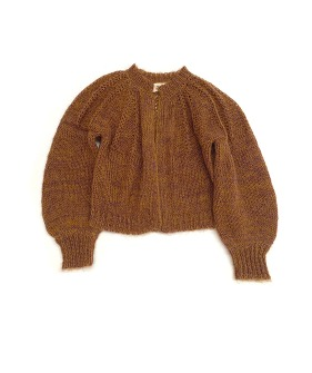 Rough Cardigan #20216- Golden Brown