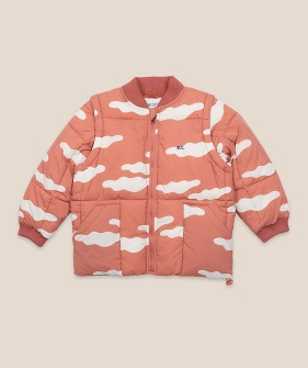 Clouds All Over Padded Jacket #01142