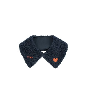 """Tiny"" Sherpa Collar - Navy"