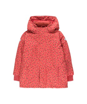 """Tiny Flowers"" Snow Jacket - Burgundy/Navy"