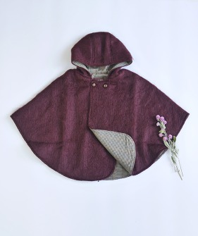 Lupo'S Poncho - Burgundy ★ONLY 4-5Y★