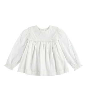 Eadie Sailor Collar Blouse - Off White Cotton ★ONLY 5-6Y★