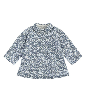 Sophie Jacket - Blue Floral Brushed Cotton Twill