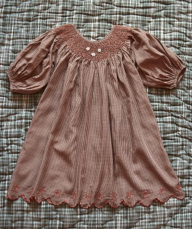 Butterfly Dress - Caramel Check