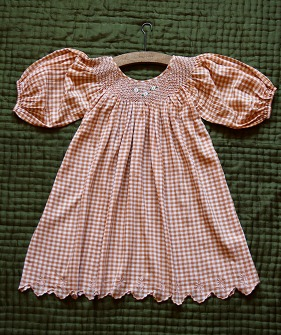 Butterfly Dress - Orange Check