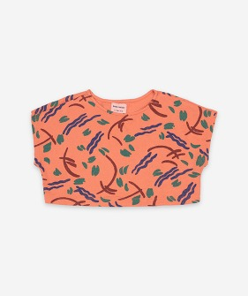 Strokes All Over Cropped Sweatshirt #121AC024/827
