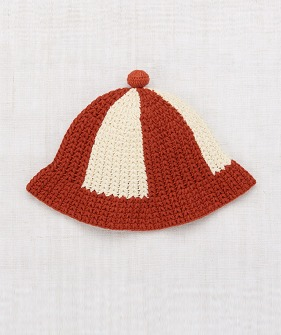 Crochet Beach Hat - Paprika
