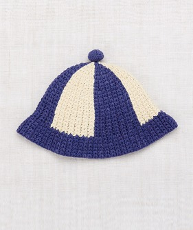 Crochet Beach Hat - Blue Violet