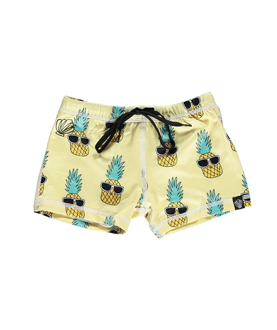 Punky Pineapple Swim Short Pants - Yellow