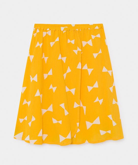All Over Bow Wrap Midi Skirt (Kid) #01136