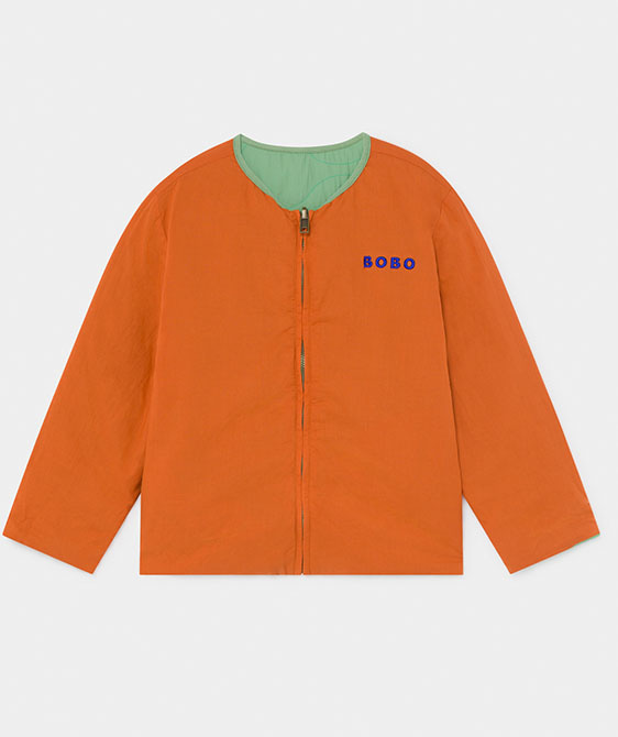 Reversible A Embroidery Quilted Jacket (Kid) #01174
