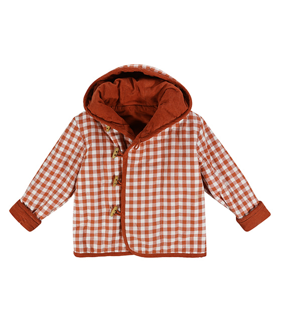 Jojo Coat - Rust Gingham