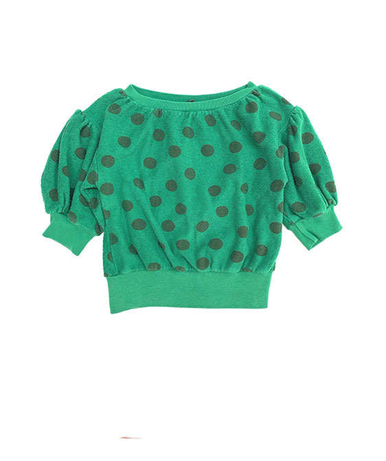 Terry SS Sweater (422) - Green Dots ★ONLY 4Y★
