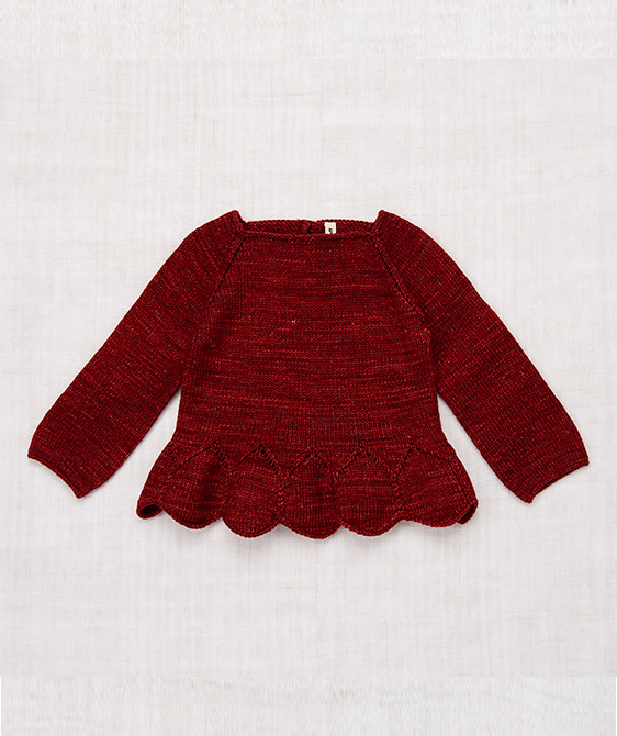 Peplum Pullover - Brick ★ONLY 3-4Y★