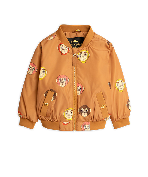 Monkey Baseball Jacket - Brown