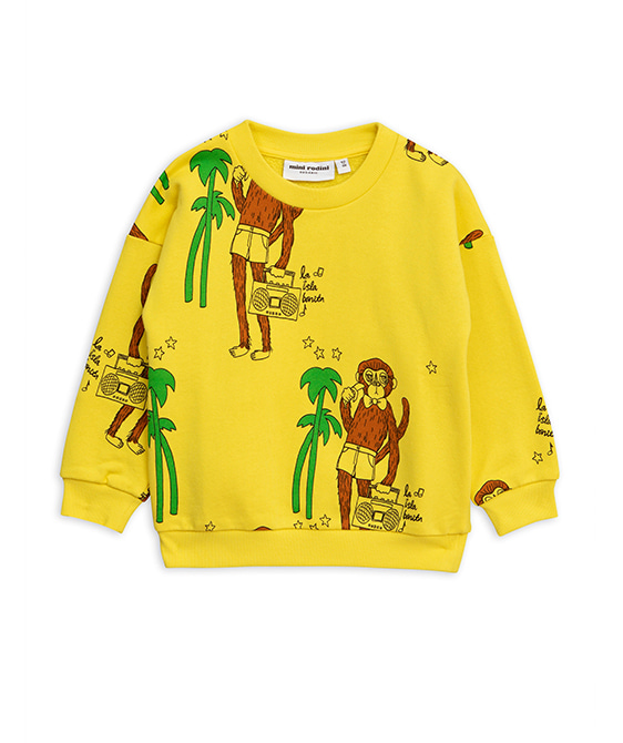Cool Monkey Aop Sweatshirt - Yellow