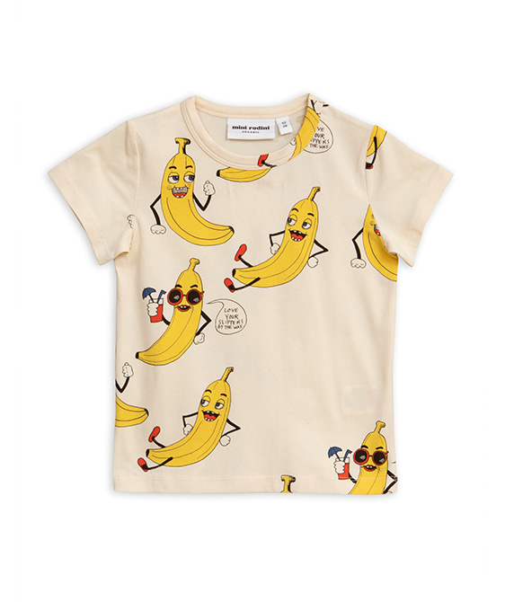 Banana Aop SS Tee - Offwhite ★ONLY 80/86★