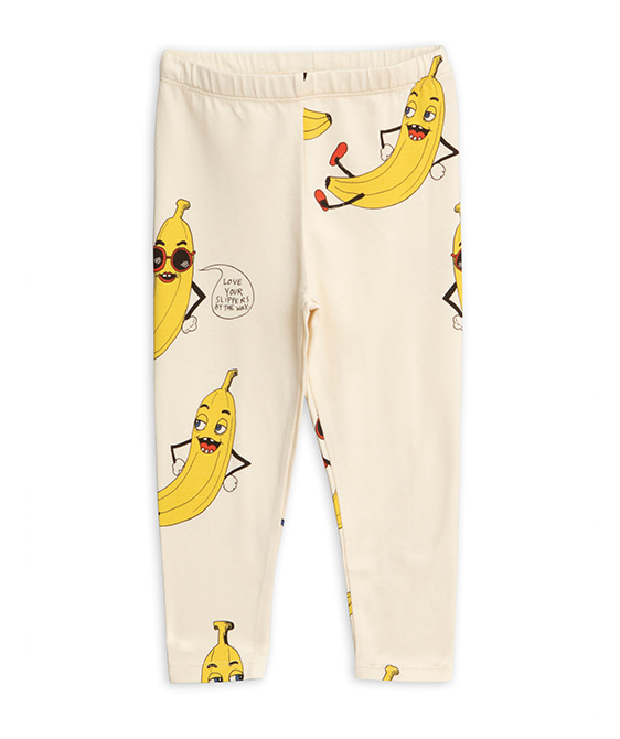 Banana Aop Leggings - Offwhite ★ONLY 128/134★
