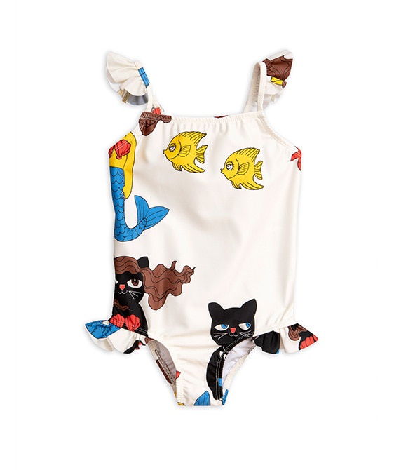 Cat Mermaid Wing Swimsuit - Off White ★ONLY 104/110★