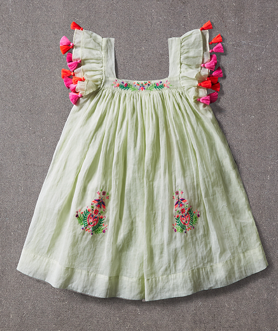 Chloe Dress - Grass Tint ★ONLY 6Y★