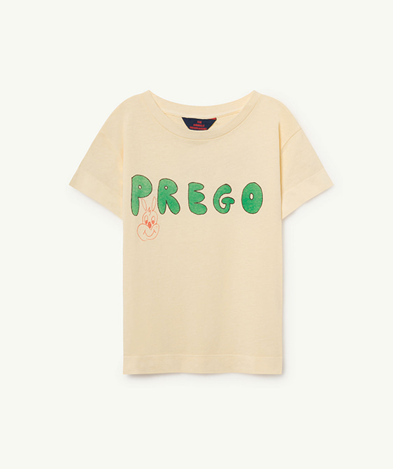 Rooster Kids T-Shirt - Yellow Prego