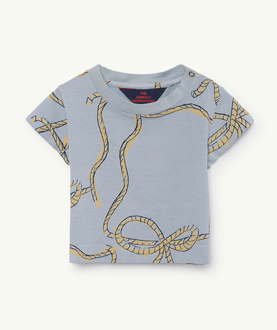 Rooster Babies T-Shirt - Blue Ropes