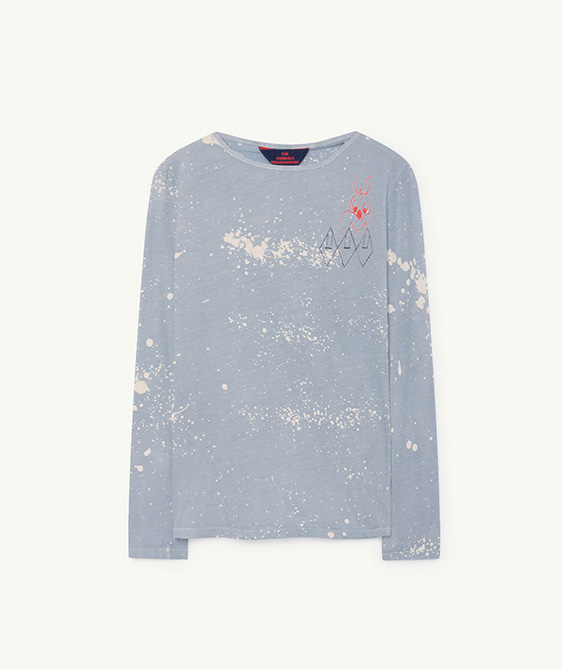 Deer Kids T-Shirt - Blue Splashes