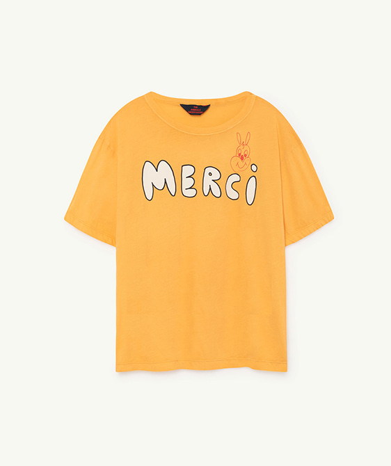 Rooster Oversize Kids T-Shirt - Yellow Merci