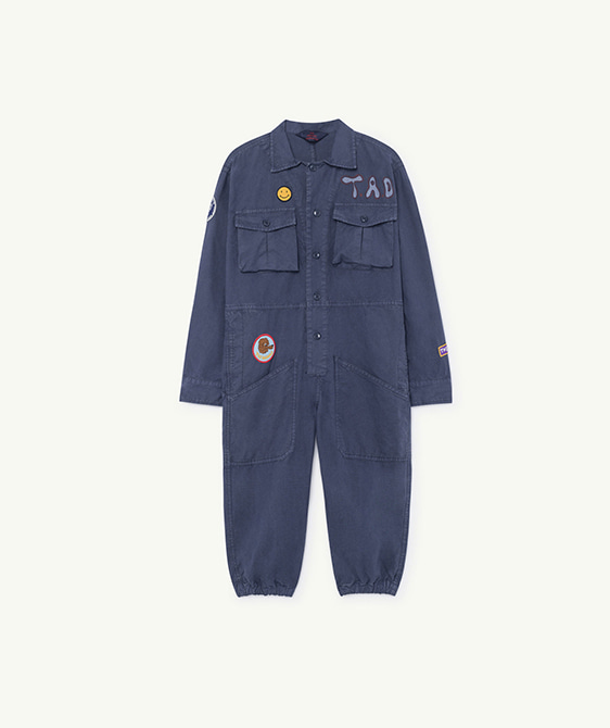 Grasshopper Kids Jumpsuit - Blue Landscape