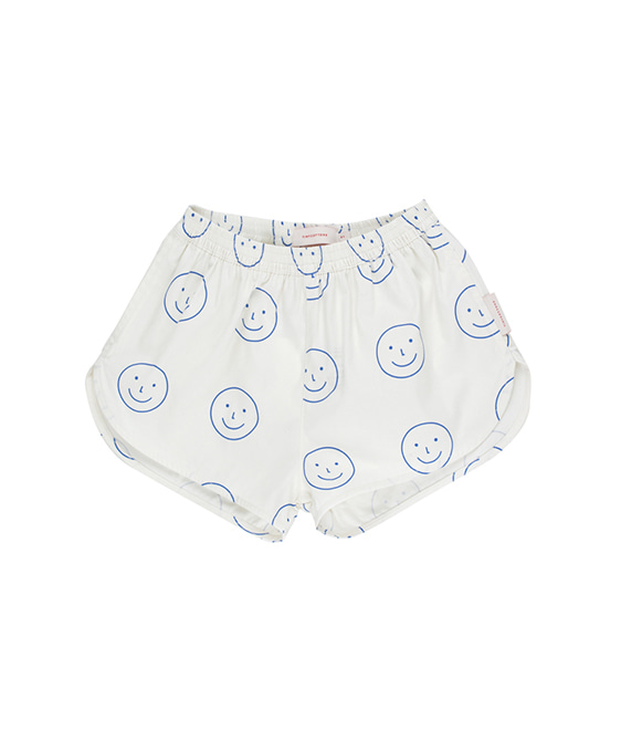 'Happy Face' Short - Off-White/Ultra marine