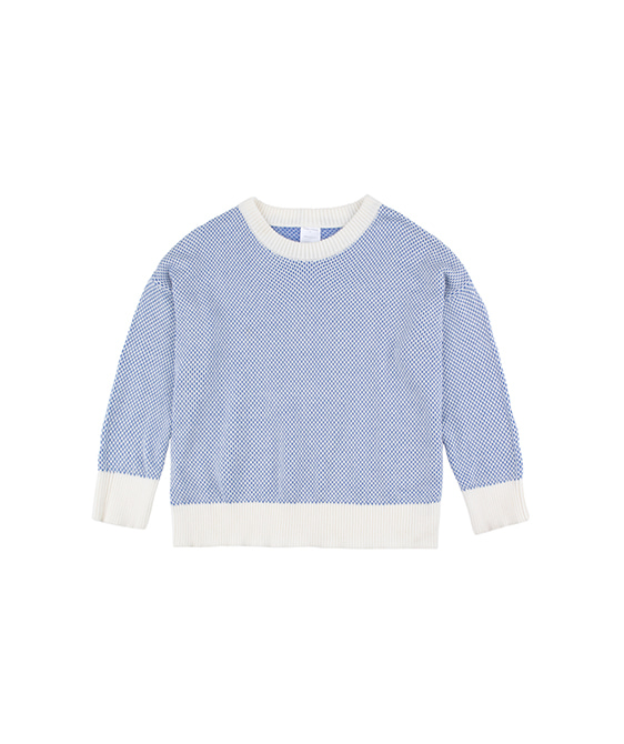 Sticks Sweater - Off-White/Ultramarine