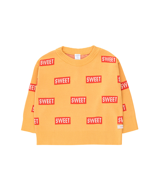 'Sweet' Sweater - Canary/Red