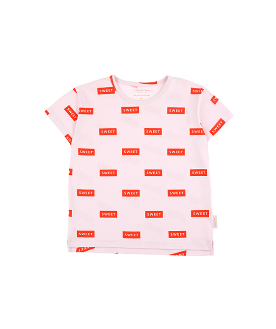 'Sweet' Ss Tee - Pearl/Red