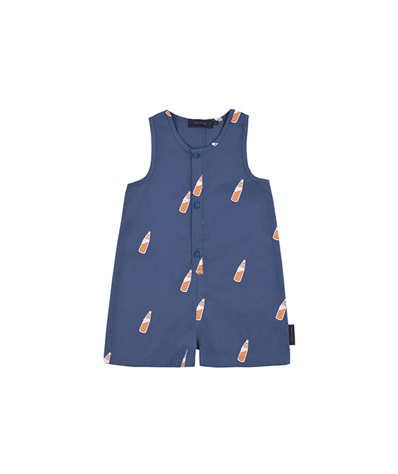 'Soda Bottles' Sl One-Piece - Light Navy/Brown ★ONLY 18M★