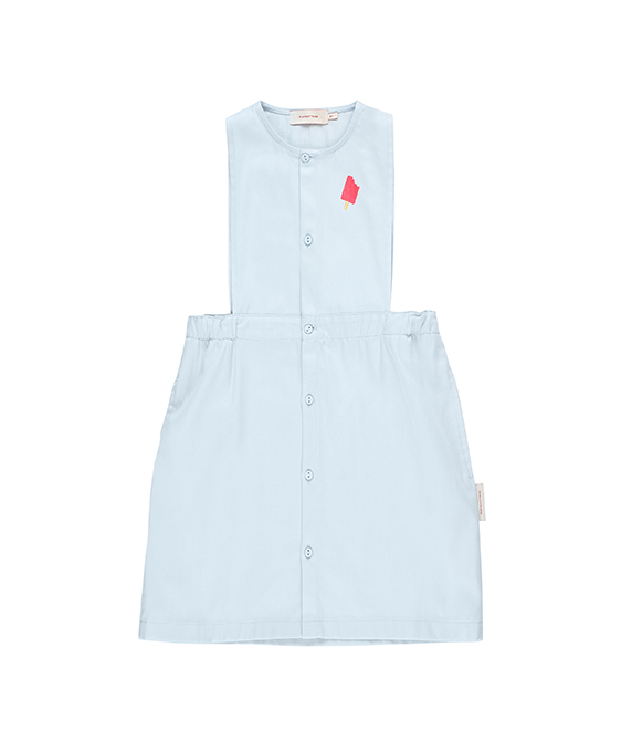 'Popsicle' Sl Dress - Light Denim/Rose