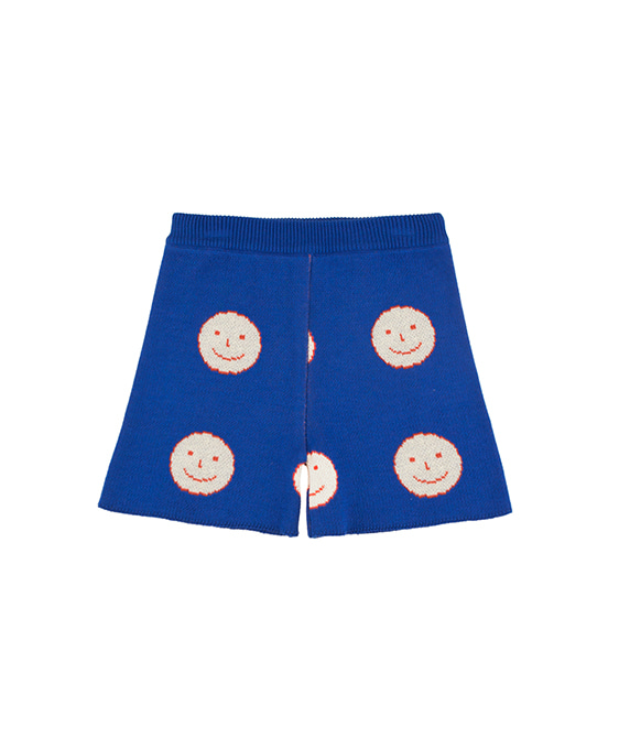 'Happy Face' Short - Ultramarine/Cream