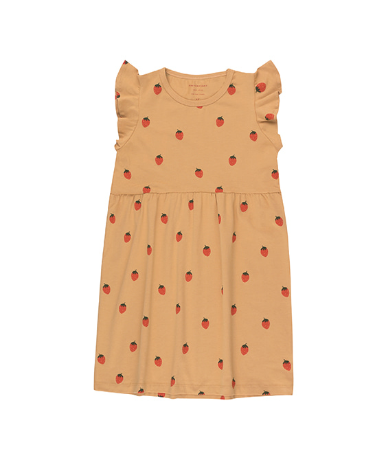 Strawberries Dress - Toffee/Red ★ONLY 2Y★