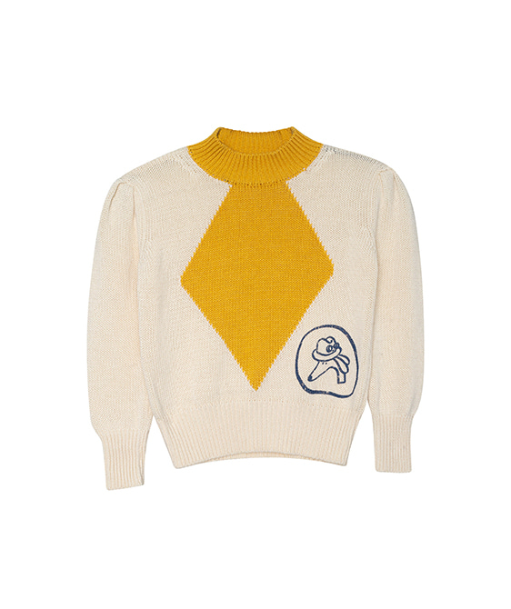 Brightsider Sweater  - Natural And Moustard ★ONLY 4Y★