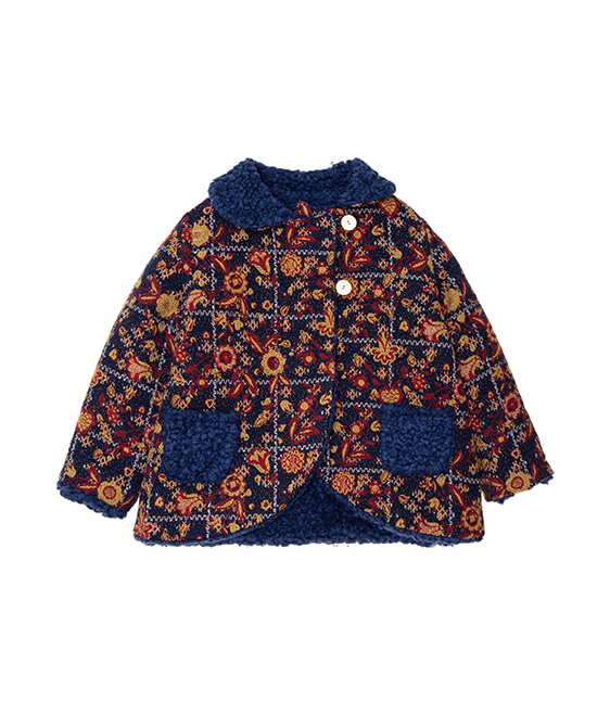 Reversible Jacquard Coat - One Color