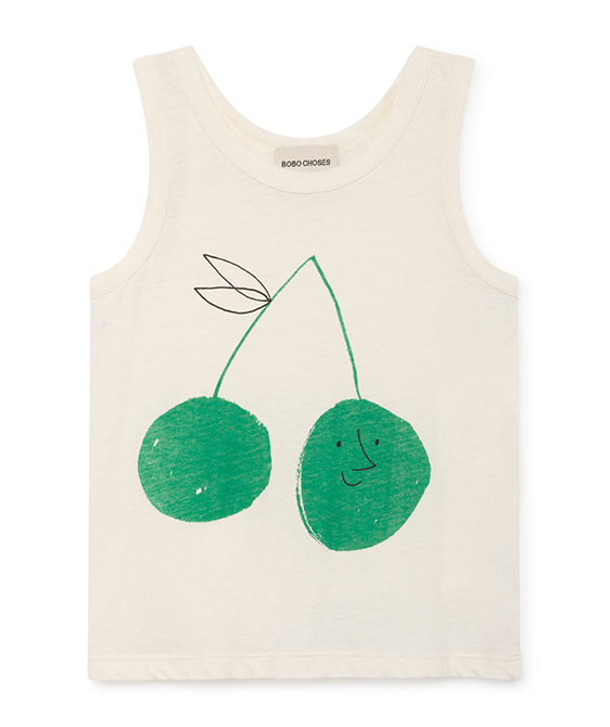 Cherry Linen Tank Top #016 ★ONLY  8-9Y★