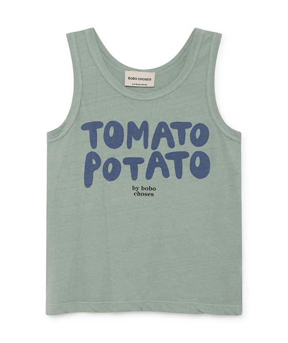 Tomato Linen Potato Tank Top #017