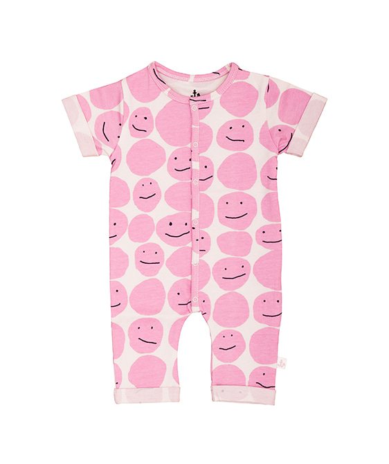 Harem Overall - Pink Smiley